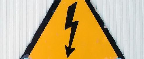 gevarenbord stroomstoring